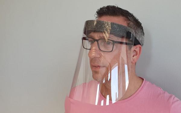 Gesichtsschutzmaske Klassik   mit Stirnpolster   unbedruckt